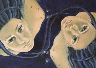 Медитация за редуциране на теглото Тъмна луна в Близнаци